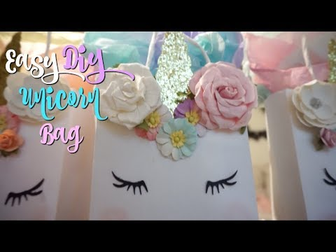 Easy Unicorn Bag DIY!