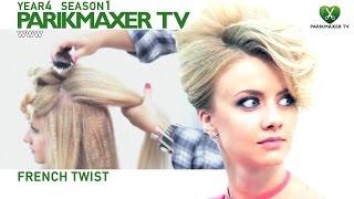 Вечерняя прическа French twist NEW Evening Hairstyle парикмахер тв parikmaxer.tv