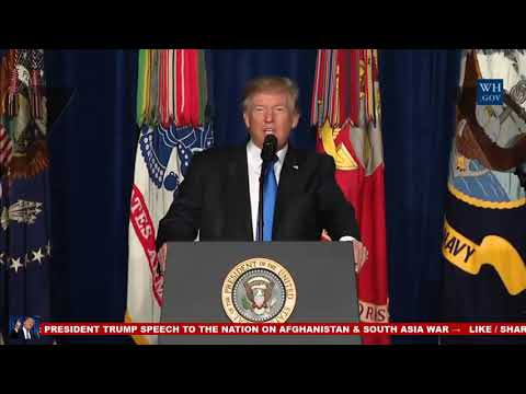 President Donald Trump Addresses Afghanistan in Press conference