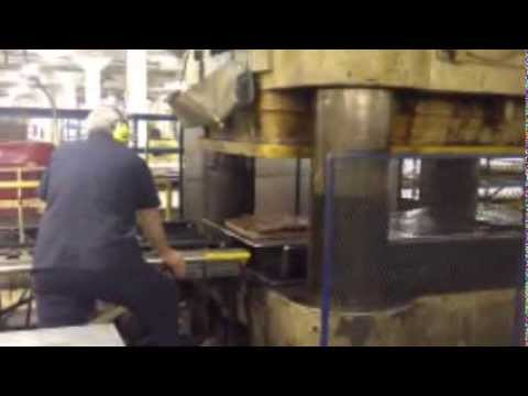 5 000 Ton Lake Erie Hydraulic Downacting Press With Rubber