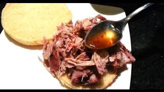 Shredded Bacon Wrapped Pork Shoulder Sous Vide With East North Carolina Bbq Sauce!