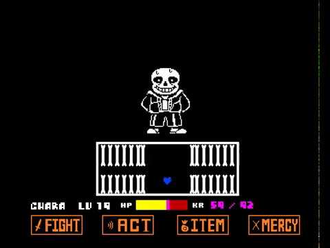 Sans Hard Mode Battle (Bad Time Simulator)