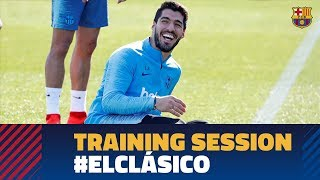 Back to work to prepare the Copa del Rey Clásico against Real Madrid