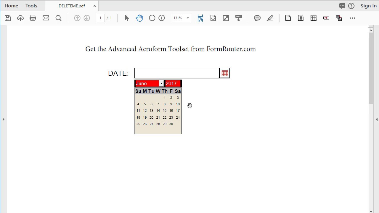 How To Change The Calendar Language On A PDF Form In Acrobat - YouTube