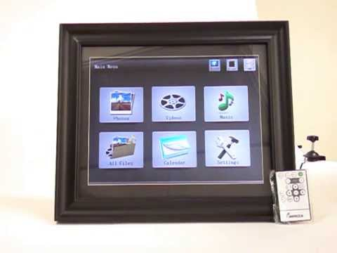 Impecca Digital Photo Frame Instructions For Using Usbsd Youtube