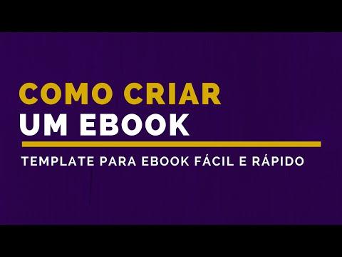 Como Criar um Ebook - Template para Ebook
