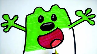 How To Draw Green Wubbzy In The Air!!! | Coloring Cartoon Character Wubbzy From Wow Wow Wubbzy