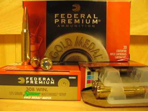 200 Round Case - 308 Federal Gold Medal Match ammo 175 grain BTHP GM308M2