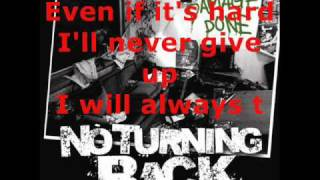 Watch No Turning Back Never Give Up video