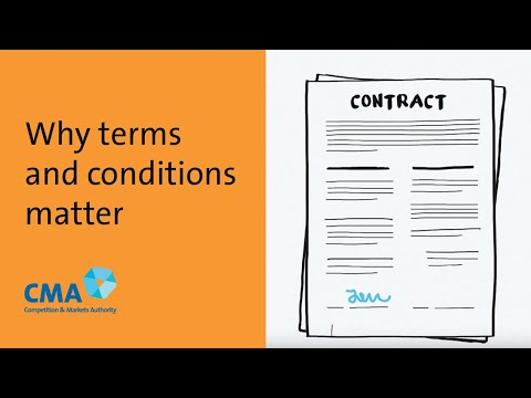 Why terms and conditions matter