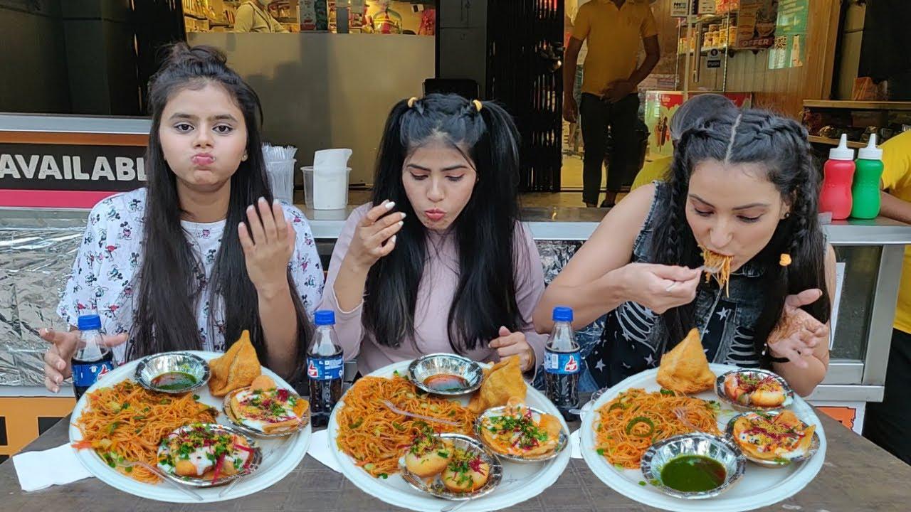 Indian Street Food Challenge | Samosa, Dahi Golgappa, Chowmein, Papdi Chaat Eating Competition