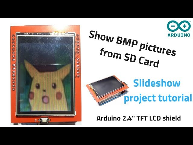 Arduino TFT LCD shield showing BMP images from SD Card