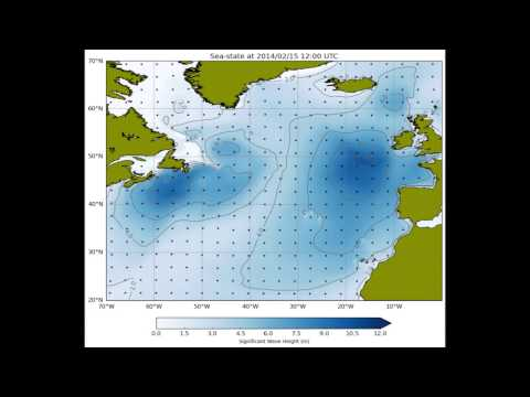 North Atlantic storm waves (2013/14 winter)