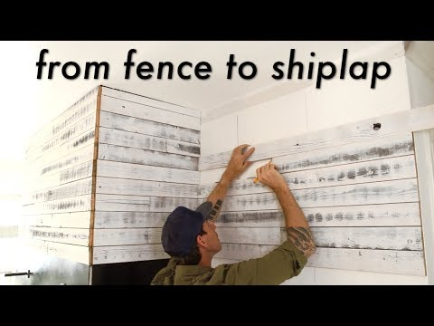I made a DIY Reclaimed Wood Shiplap Wall from my old FENCE