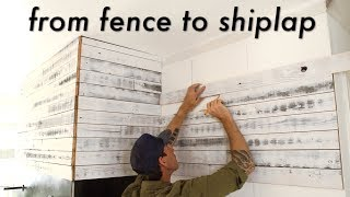 Beautiful DIY Shiplap from Crappy Old Fence!