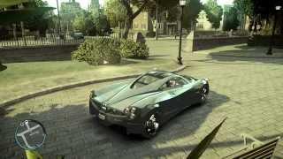 GTA IV -  Pagani Huayra engine sound + exaust backfire sound and startup | V4