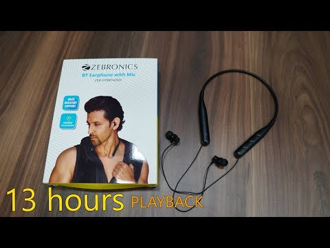 Zebronics Zeb Symphony Neckband earphone with voice assistant and 13 hours battery life