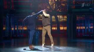 Станислав Литвинов и Йорданис Форбес на шоу Танцуй 2015, номер 1+1