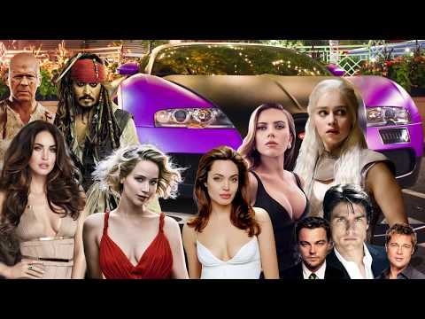 Top 10 Hollywood Stars Supercars 2017 - 'Emilia Clarke' 'Scarlett Johansson'