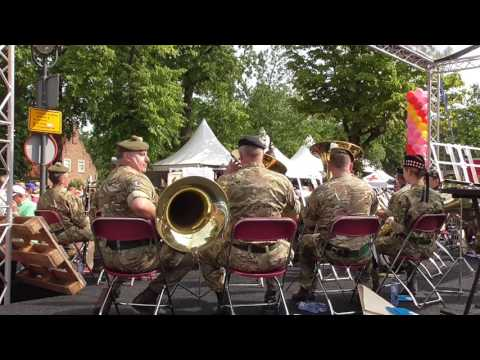 4 Days Marches Nijmegen 2017 day 2 Wijchen part 8 /  Royal Logistic Corps + Scottish Division