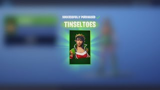 'NEW' TINSELTOES Skin ' CRACKDOWN Emote - 21 décembre Fortnite Daily Item Shop