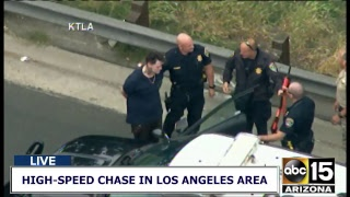 NOW: Reckless driver being pursued by police in Los Angeles