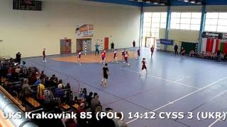 U15 boys. FINAL M02. Lajkonik cup 2017. UKS Krakowiak 85 - CYSS 3 (UKR) - 18:15 (2nd half) 24/04