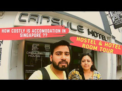 How cheap is hostel/hotel in Singapore?   Complete hostel & hotel tour   Hindi