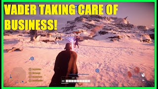 Star Wars Battlefront 2 - Darth Vader hunting a cowardly Han! Lord Vader killstreak!