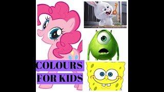 Learn Colours With Cartoon Heroes - Учим Цвета С Героями Мультфильмов - Цвета На Англиском Языке