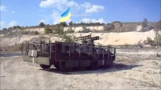 BTR-80 Joker 8x8 armoured personnel carrier with four SPG-9M 73mm recoilless guns Ukrainian army