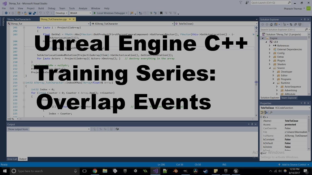 Unreal Engine C++ Training Series - Overlap Events