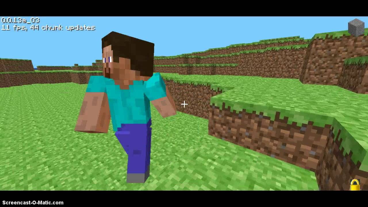 Minecraft Pre-Classic/0.0.13a_03 Gameplay - YouTube