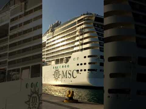 MSC SPLENDIDA Berthing at Doha Port