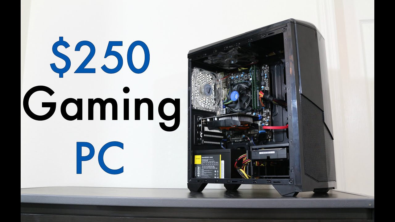 ultimate 250 budget gaming pc 2016 console killer youtube