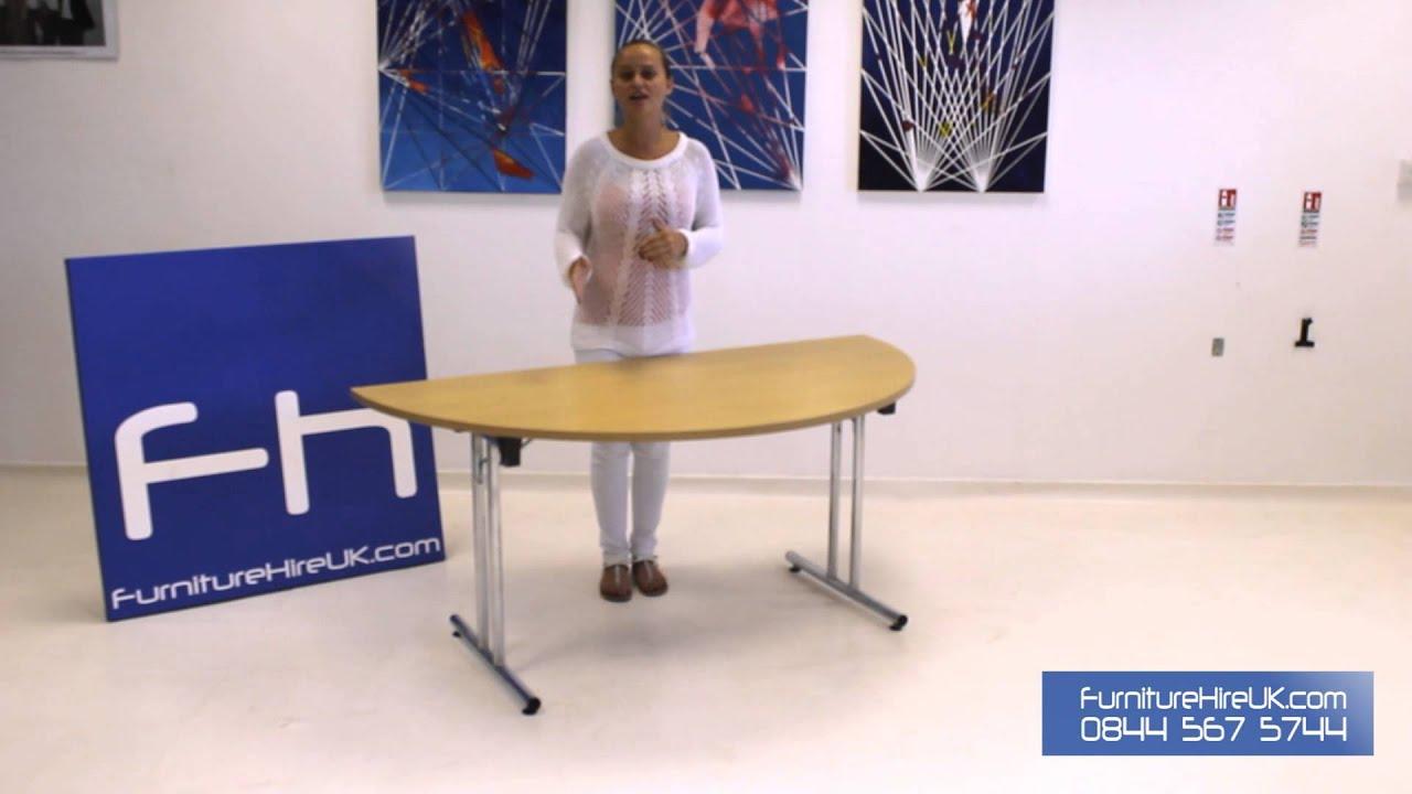Modular D-End Meeting Table Demo - Furniture Hire UK
