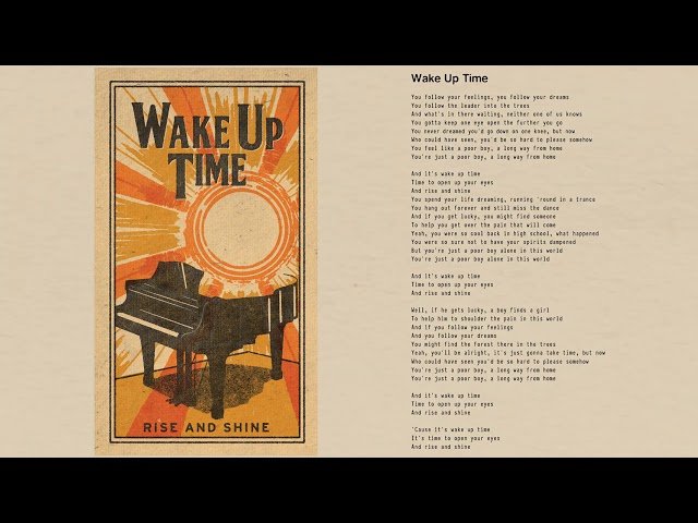 Tom Petty - Wake Up Time (Official Lyric Video)
