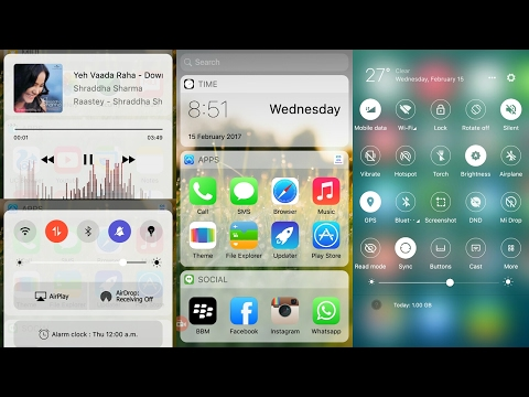 Best iOS theme for Android.  (2017 February Mi)