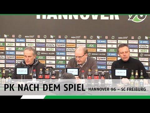 PK nach dem Spiel   Hannover 96 - SC Freiburg