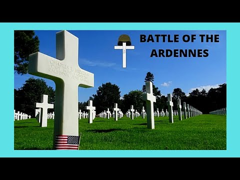 LUXEMBOURG, the WW2 AMERICAN Cemetery and Memorial, BATTLE OF THE ARDENNES