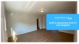 2210 S Sycamore Ave #1, Los Angeles