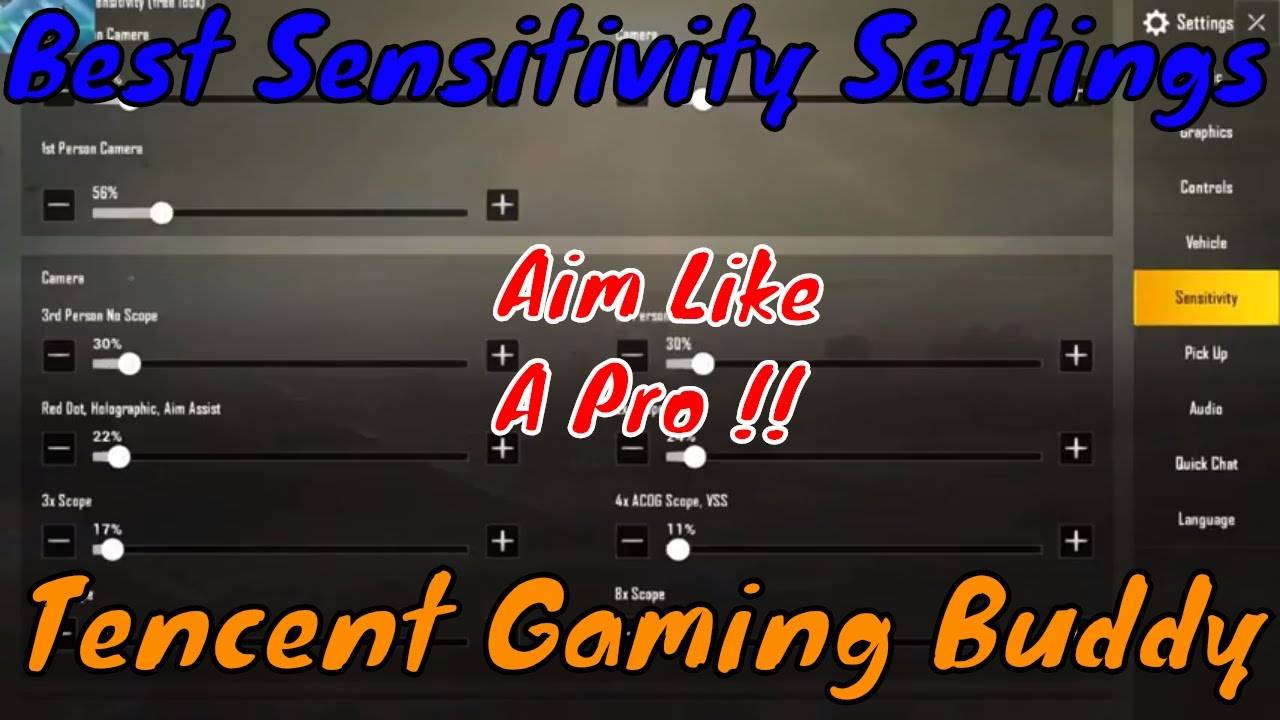 There Are Best Settings For Pubg Mobile Game: PUBG MOBILE : Best Sensitivity Settings PC