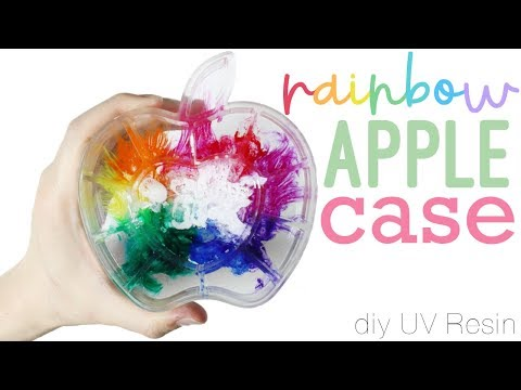 How to DIY Colorful Rainbow Apple Container Resin Tutorial