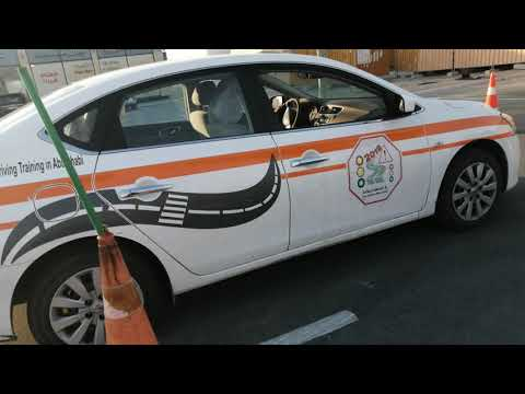 Reverse Parking Test 90 Degree With Cones by Mona 0559654847  UAE Abu dhabi