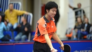 Jun Mizutani vs Kalinikos Kreanga. Champions League Men. KalinikosクレアンガVS水谷隼。チャンピオンズリーグの男性。
