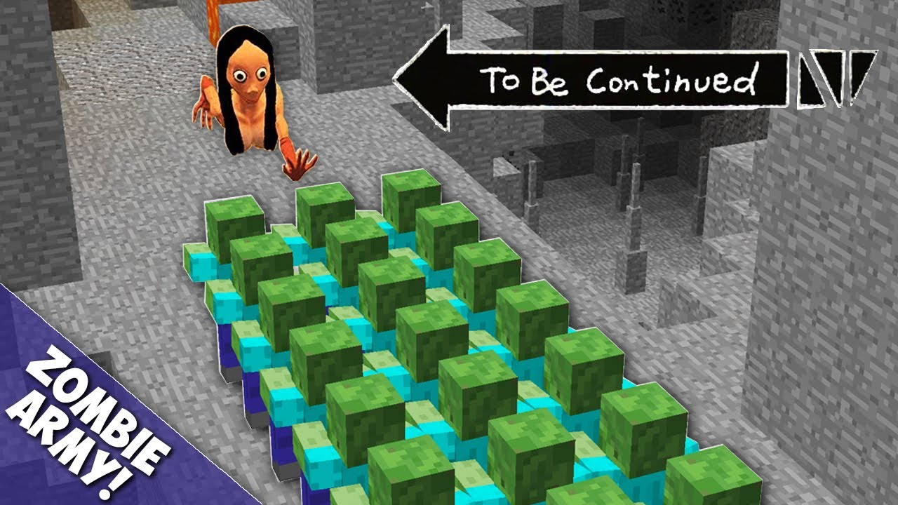 Real Momo vs 1000 Zombie Army in Minecraft ! To Be Continued By Pickle Craft