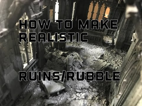 Realistic Ruins And Rubble Piles For Warhammer 40k, Historical And Fantasy Terrain