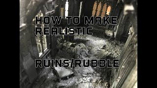 Baixar Realistic Ruins And Rubble Piles For Warhammer 40k, Historical And Fantasy Terrain