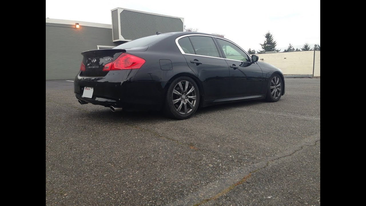 Infiniti g37 sedan muffler delete youtube vanachro Choice Image