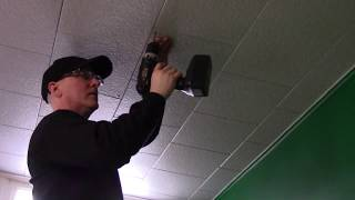 Fix sagging ceiling tiles easy peasy